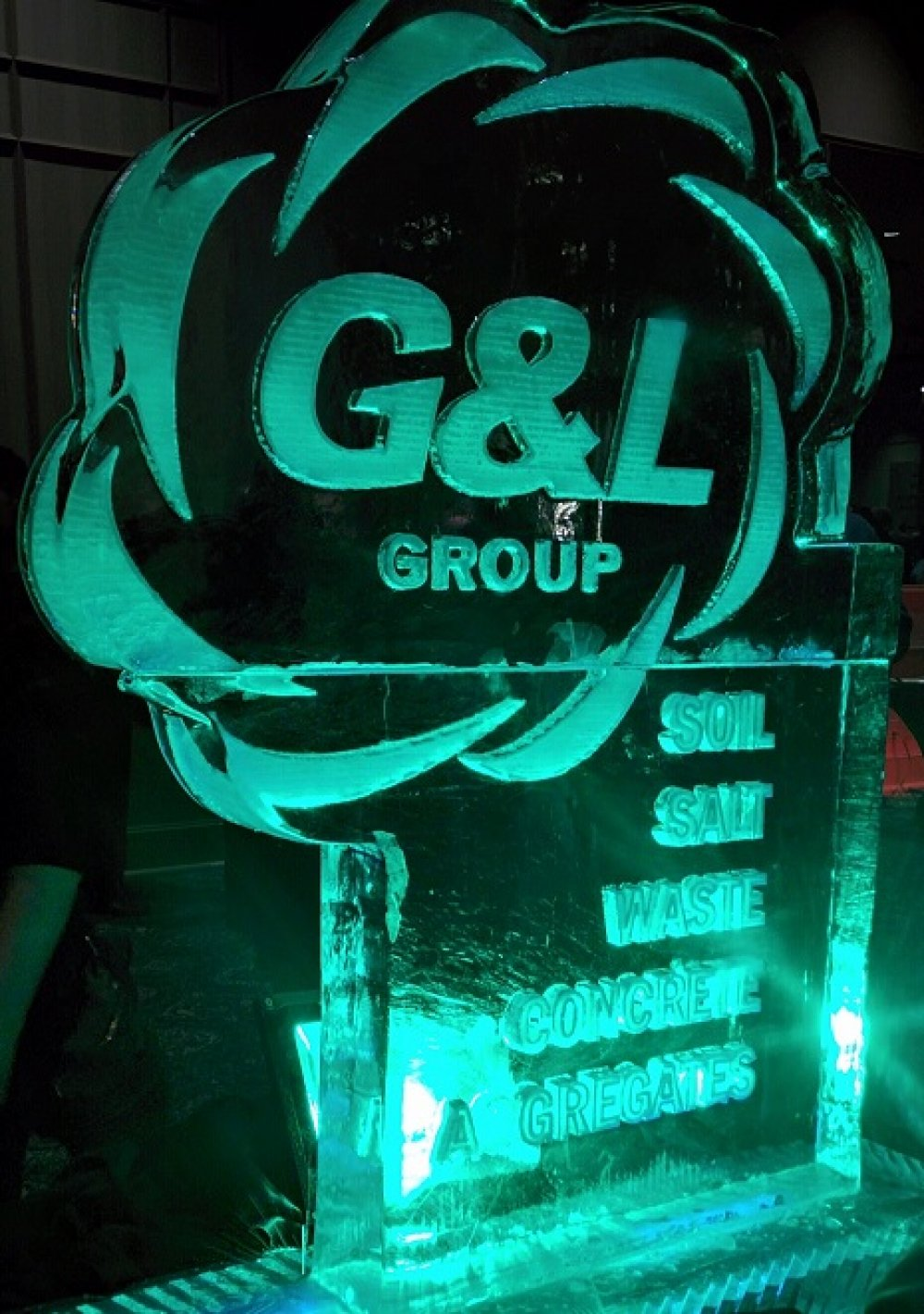 G&L Group Logo Ice Sculpture